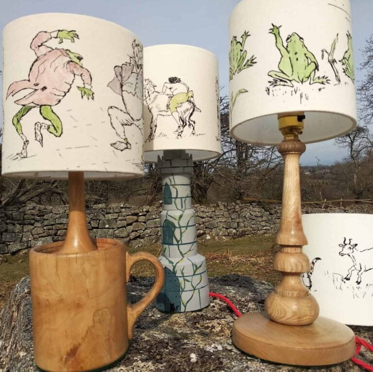 Hand-Turned Lamp Stands from Devon